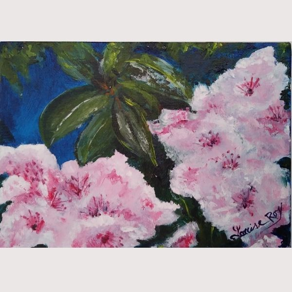 Louise Roy Pink Flowers
