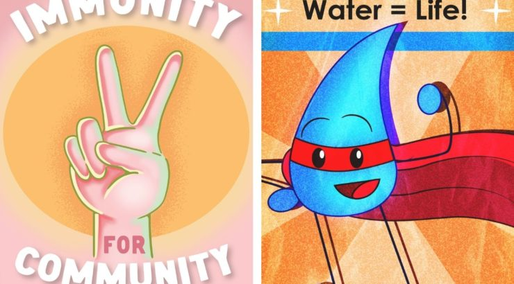 Art in Transit Vaccine and Water Conservation Campaigns