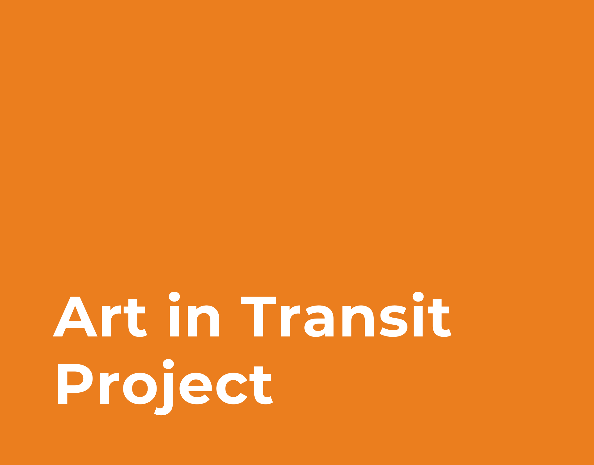Art in Transit Project Link