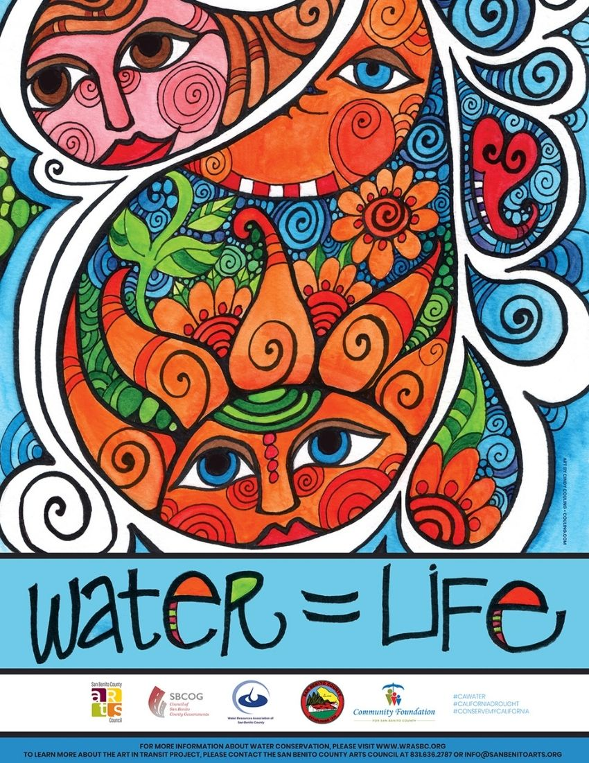 Water Conservation Poster Water is Life
