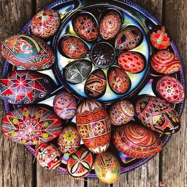 Batik Eggs by Claudia Harden