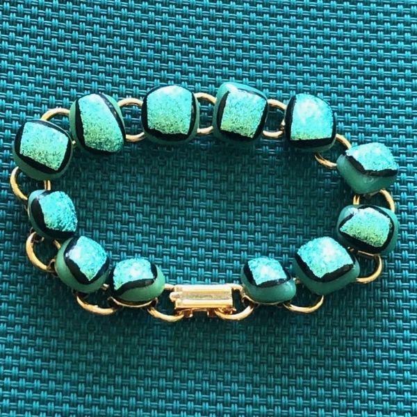 Fused Glass Bracelet by Rhoda Bloom
